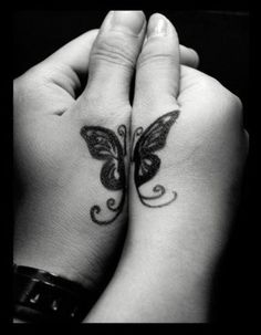Idea to do as mother/daughter.....my mom WILL get tattooed one day! Lol