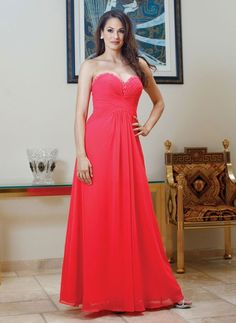 Sweetheart chiffon dress for mother of the bride with empire waist