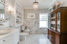 #masterbath #tile #marble #vanity