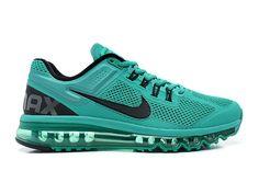 Nike Air Max 2013 Chaussures Nike Pas Cher Homme Atomic Vert/Noir 554886-301