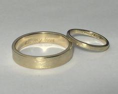 10kt gold wedding bands, rose gold wedding band, wedding band set , wedding band his and her, gold wedding band, wedding band rose gold