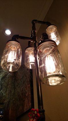Pipe Floor Lamp 4-fixture Living Room par VintagePipeCreations