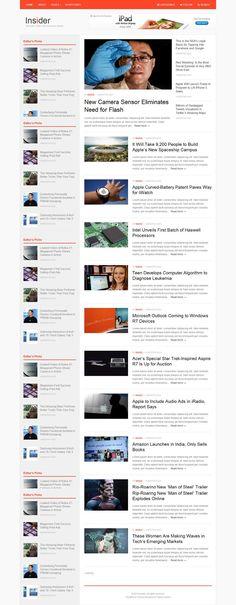 Insider Responsive WordPress Theme for News Blogs