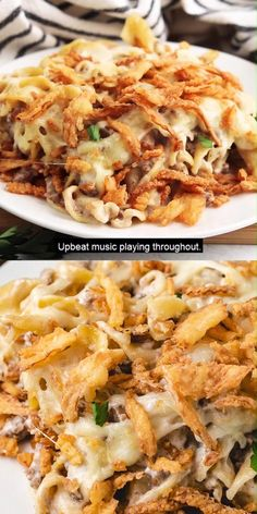 Easy Casserole Dishes, Onion Casserole, Beef Casserole Recipes, Beef And Noodles, Egg Noodles, Ground Beef Noodle Casserole, Beef Recipe Video, Ground Beef Recipes, Ground Beef Dishes