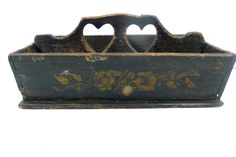 Best 19th Century Double Heart Cutlery Box Tote Original Paint | eBay  sold   305.00.      ...~♥~