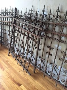 Italian Antique Wrought Iron Fence (2 sections left)