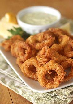 Calamari Fritti with Pepperoncini Aioli- makes the perfect holiday appetizer. Yum!