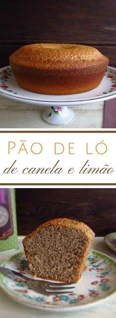 Pão de ló de canela e limão | Food From Portugal. Com os dias frios nada como o conforto de um chá quente e um pão de lo de canela e limão. É reconfortante, saboroso e fácil de preparar! #receita #bolo #limão #canela