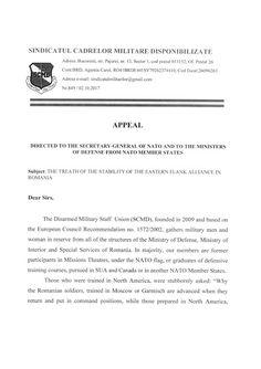 SCMD - Departamentul Relatii: Apel catre Organizatia Tratatului Atlanticului de ...