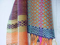 corn moon scarf / 2 (Avalanche Looms) Tags: color design silk cotton textiles handwoven handweaving rosepath floorloom
