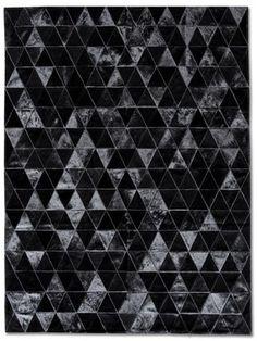 Pyramids Black Patchwork Cowhide,Pyramids Black Patchwork Cowhide