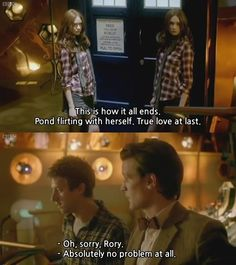 """True love at last."" #DoctorWho // haha! That was hilarious! I LOVE that ""True love at last."" bit!"