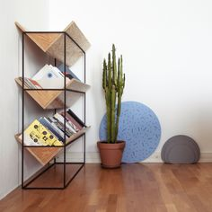 Maxim Scherbakov and Alexey Galkin; Enameled Metal and Plywood Bookshelf, 2010s.