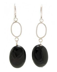Pendientes de plata y piedra sintética negra Pearl Earrings, Drop Earrings, Bead, Pearls, Diy, Jewelry, Fashion, Moda, Pearl Studs