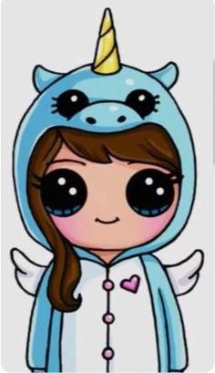 draw so cute Cute Drawings Of People, Cute Food Drawings, Cute Disney Drawings, Cute Little Drawings, Cute Cartoon Drawings, Cute Animal Drawings, Kawaii Girl Drawings, Girly Drawings, Cute Kawaii Girl