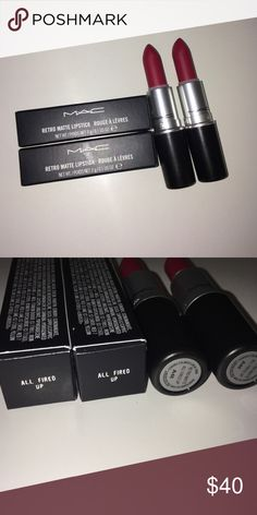 😘 SOLD 😘 Mac Lipstick ~ All Fired Up ~ Brand new Mac lipstick. I will have more shades available. MAC Cosmetics Makeup Lipstick