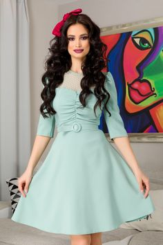 Vintage, Style, Dresses, Fashion, Beautiful Women, Green, Swag, Vestidos, Moda