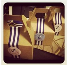 Bridesmaid boxes instead Nautical Baby Shower