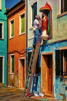 ~Artisan in Burano, Veneto, Italy~