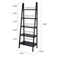 Maximize your space with the functional style of this Casual Home ladder bookcase. Ladder Shelf Decor, Ladder Bookshelf, Bookcase Shelves, Shelving, Wood Pallet Furniture, Diy Furniture, Casa Clean, Closet Layout, House Plants Decor