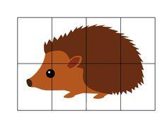 Werkblad motoriek: * Puzzel: Egel! Autumn Activities For Kids, Fall Preschool, Toddler Learning Activities, Preschool Games, Fall Crafts For Kids, Montessori Activities, Fall Art Projects, Bear Crafts, Animal Habitats