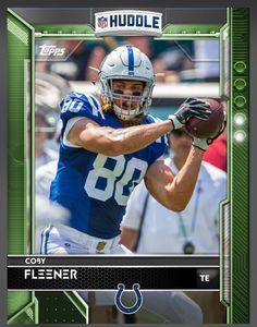 Coby Fleener Indianapolis Colts Green Parallel Card 2016 Topps HUDDLE