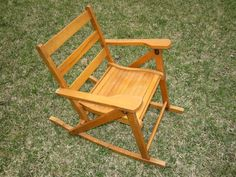 Wooden Folding Rocking Chair Home Furniture Design