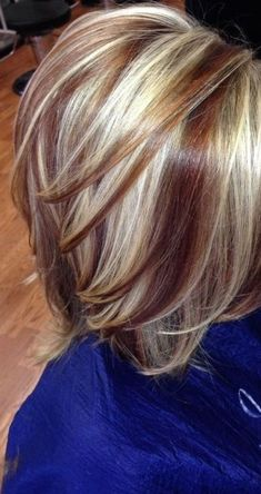 dark and blond highlights for short hair - Google Search
