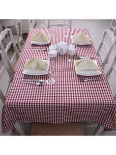 Country Style Small Plaid Table Cloth