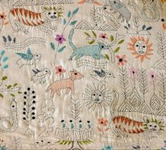 hand embroidery from Bangladesh