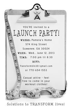 isagenix launch party invite - Google Search