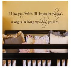 Beautiful nursery wall quotes and sayings for the baby's room. Wall quotes and words for the walls are the latest home trend in decorating and...