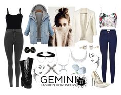 """""""226-> Gemini :)"""" by dimibra ❤ liked on Polyvore featuring New Look, Casadei, Baguette....., Boohoo and BERRICLE"""