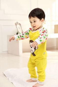 2015 New Cute Fashion Spring Fall Autumn Baby Clothing Sets Unisex Factory Direct Clothing Cheap Character Newborn Clothing Suits Cotton For 0-24M Baby Boy Baby Girl Clothes Brand Infant Garment Fashion Striped Orange Roupas Bebes Clothes Set Suits China Brand