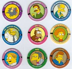 The Simpons... POGS!
