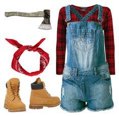 """Lady lumberjack (lumberjill?)"" by mrs-o-bloom-2 ❤ liked on Polyvore                                                                                                                                                                                 More"
