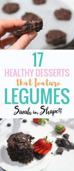 Are you a fan of healthy desserts? These healthy dessert recipes ideas all contain legumes. It's a great way to sneak some extra veggies, fibre and healthy carbohydrates in some delicious, meal prep friendly treats.