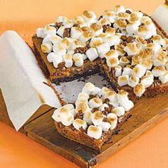 Fudgy Marshmallow Bars | MyRecipes.com