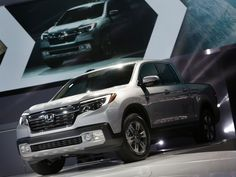 The 2017 Honda Ridgeline RTL- E is introduced during the 2016 North American International Auto Show held at Cobo Center in downtown Detroit on Monday, Jan. 11, 2016.