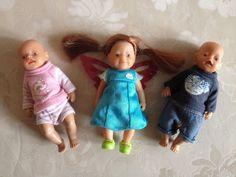 3 Mini Baby Born Puppen, ca. 14cm groß, my mini baby born