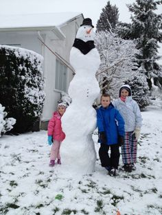 Impressive Snowman! (there was a parent and a step stool involved:)