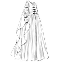 M2004, Floor-Length Dresses with Lacing