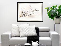 Obrazy na plotnie do salonu Zurawie Seria Shanghai - Nowoczesne obrazy do salonu i sypialni. Ręcznie zdobione. Couch, Throw Pillows, Bed, Furniture, Home Decor, Living Room, Settee, Toss Pillows, Decoration Home