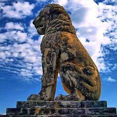 📷 The Lion of Amphipolis, Macedonia, Greece. Photo by 🔸 The Lion of Amphipolis is a tomb sculpture in Amphipolis, Macedonia, northern Greece. Ancient Greek Art, Ancient Greece, Ancient Egypt, Alexandre Le Grand, Macedonia Greece, Stone Lion, Fu Dog, Greek History, Alexander The Great