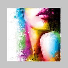 【今だけ☆送料無料】 アートパネル  人物画1枚で1セット 色気 女性 レインボー 唇【納期】お取り寄せ2~3週間前後で発送予定