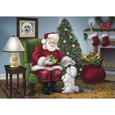 Absolutely Adorable! No Longer Available as of 2014 Maltese Santa's Greeting  Maltese Christmas Cards - The Danbury Mint