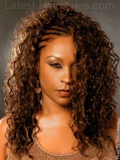 Awesome Cornrows Black Hairstyles And Curly Weaves On Pinterest Hairstyles For Women Draintrainus