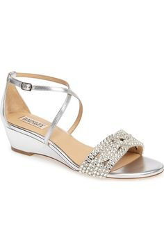 b67e18461e8fb Badgley Mischka Tressa Embellished Wedge Sandal (Women) available at   Nordstrom Badgley Mischka Shoes
