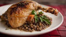 Confit de canard | Signé M Main Dishes, Turkey, Chicken, Tva, Food, Drinks, Confit Duck Leg, Duck Confit, Drizzle Cake