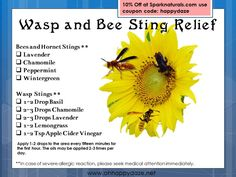 Essential oils for Wasp & Bee Stings